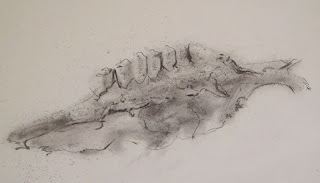 Teeth - Graphite on paper