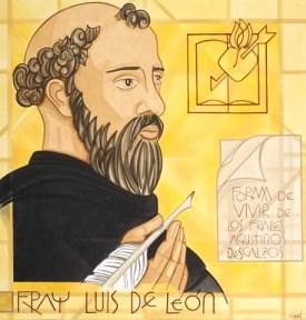 Ilustración de Fray Luis de León  a colores para niños