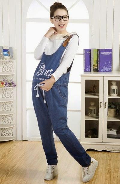 Trend Model Baju Celana Kodok Jeans Panjang Wanita