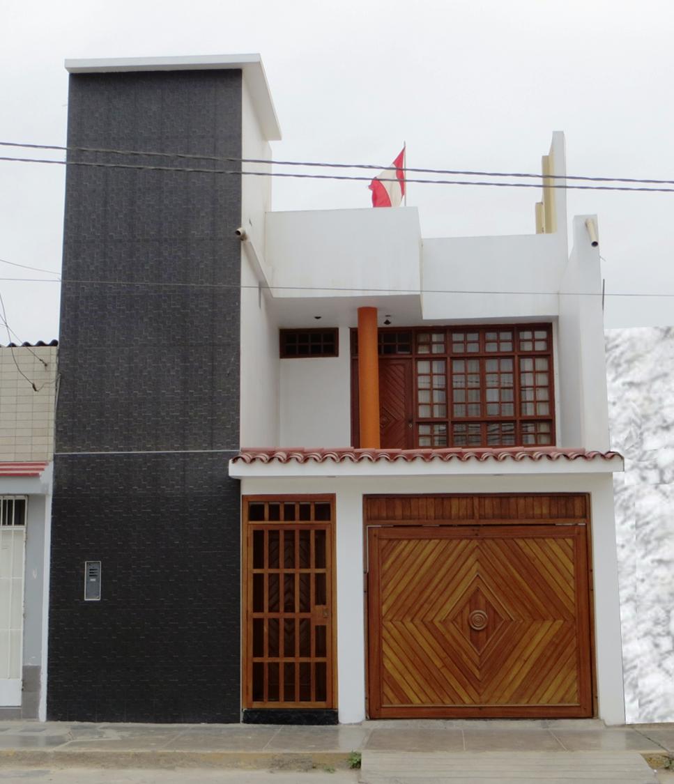 Fachadas y casas fachada contempor nea con textura gris for Fachadas de casas modernas de 6 metros