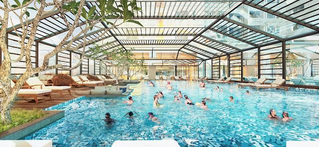 Bể bơi bốn mùa với phong cách thiết kế 5 sao tại dự án