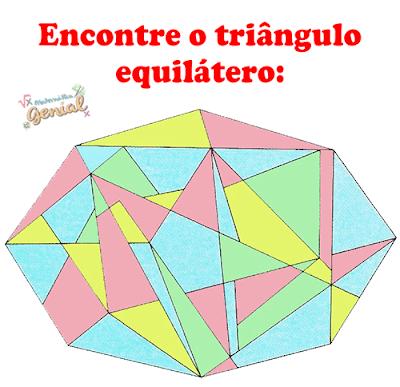 Desafio: Encontre o triângulo equilátero