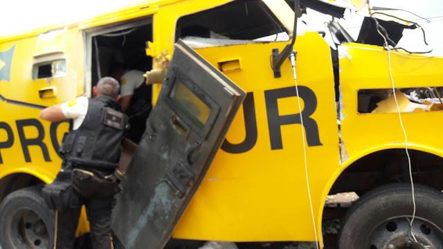 POLÍCIA BUSCA ASSALTANTES DE CARROS-FORTES EM MARABÁ – VEJA FOTOS DO ASSALTO