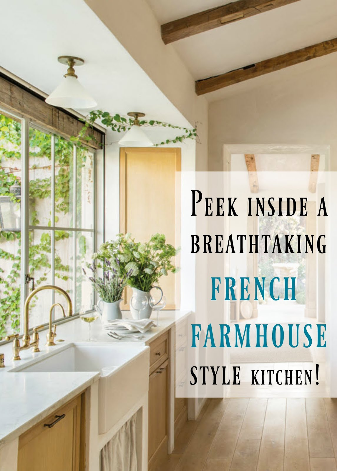 6 lovely farmhouse decorating ideas hello lovely for Modern french farmhouse