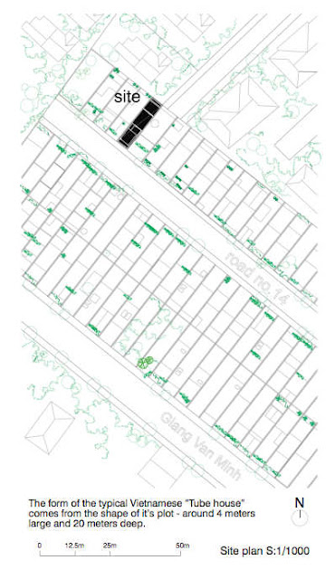 Site plan of green home