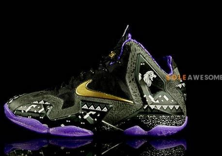 """finest selection 9e180 1e02c Nike LeBron 11 XI BHM """"Black History Month"""" Sneaker (New Detailed Images)"""
