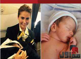 طفل يوبد على متن طائرة