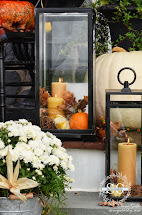 Fall Porch Decorating Ideas with Lanterns
