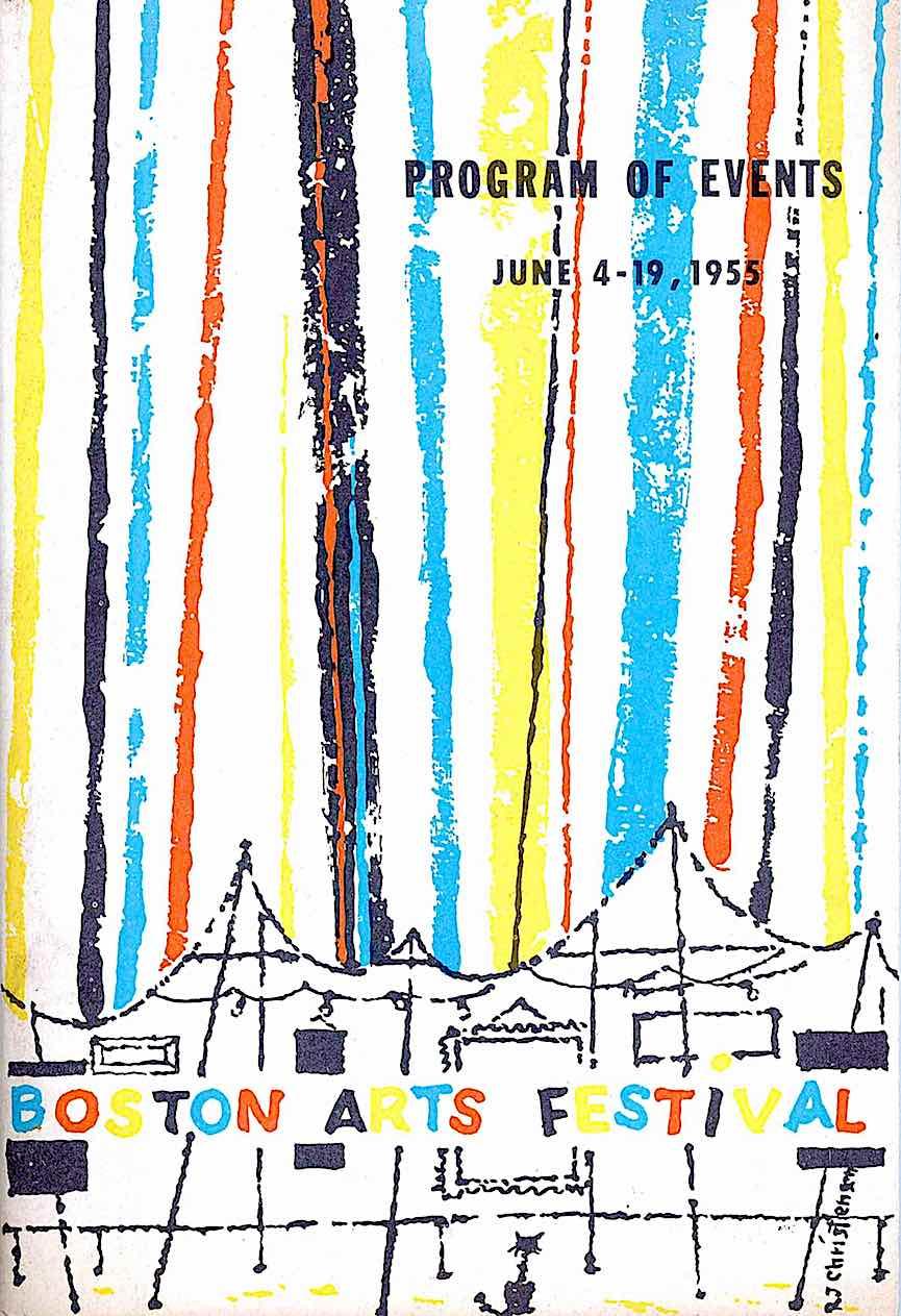 the 1955 Boston Arts Festival program of events