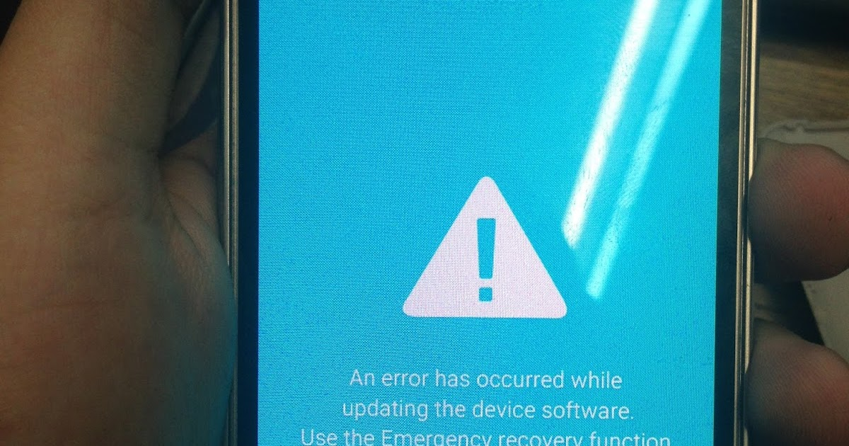 An error has occurred while updating the device software Use