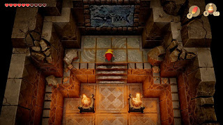 inside the Southern Shrine with the truth about the island in front of Link