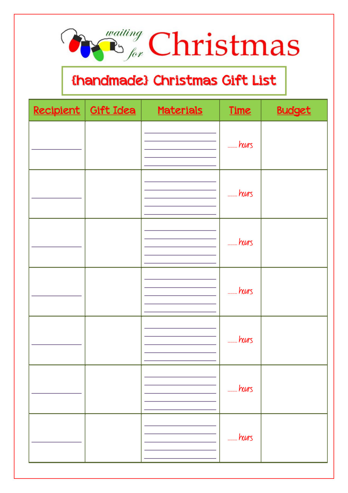 Free Christmas List Template archangel michael and the legion of – Christmas List Template