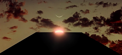 Sun, Moon, and the Rectangular Black Monolith, 2001: A Space Odyssey (1968), directed by Stanley Kubrick