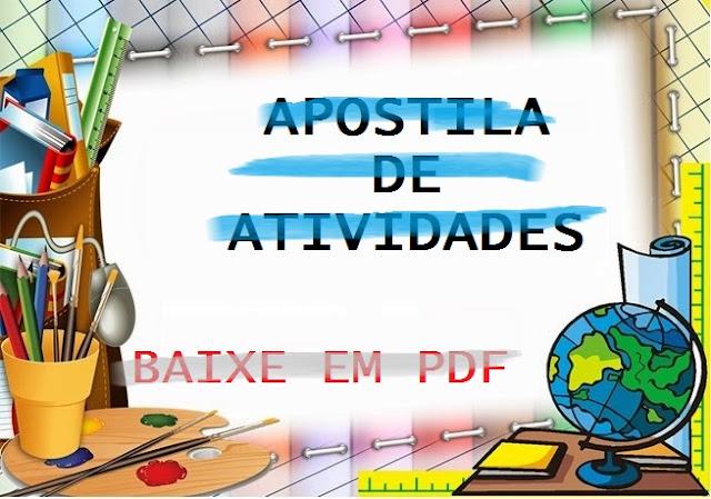 BAIXE EM PDF APOSTILA COM 246 ATIVIDADES PARA ALFABETIZAÇÃO