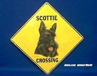 Scottish Terrier Crossing Sign Scottie