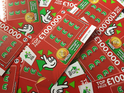 National Lottery £100,000 Scratch Cards 2017