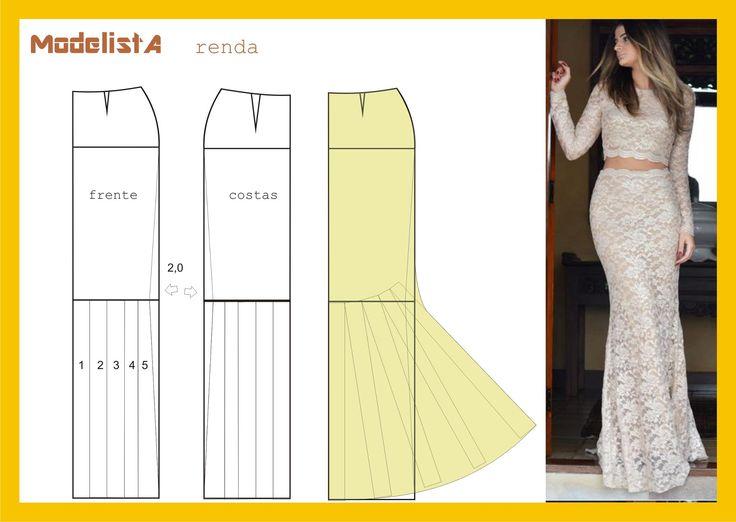 23378e3ca Patrón falda para vestido de fiesta - yo elijo Coser