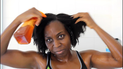 Natural Hair Wash Day Routine using Black Tea Rinse and Rice Water Rinse