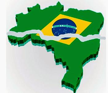 Resultado de imagem para brasil dividido