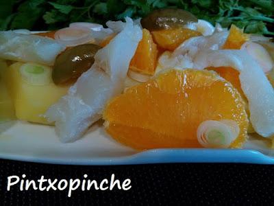 ensalada malaguena de bacalao
