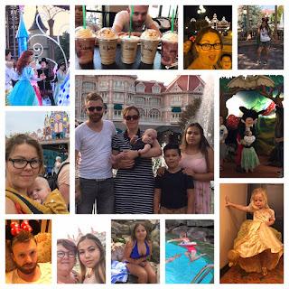Nog een collage van foto's van onze gezinsvakantie in Disneyland
