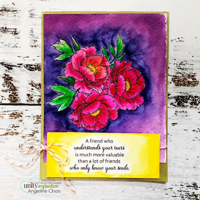 ScrappyScrappy: Friendship Blooms #scrappyscrappy #unitystampco #cardmaking #card #stamp #stamping #youtube #quicktipvideo #ginakdesigns #janedavenport #mermaidmarkers #watercolors #friendshipblooms