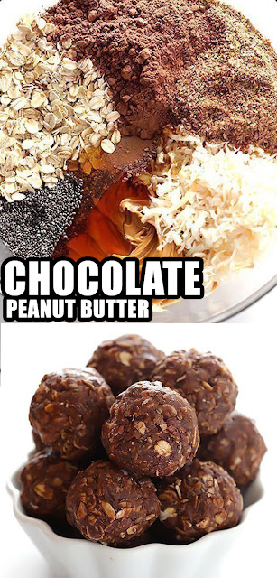 YUMMY CHOCOLATE PEANUT BUTTER NO-BAKE ENERGY BITES