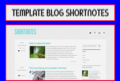 Shortnotes Blogger Templates Responsive Free Download