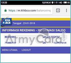 klikbca individual BCA internet banking