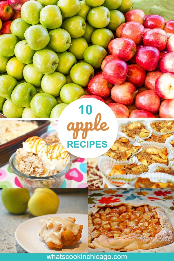 titled photo collage of the 10 best apple recipes