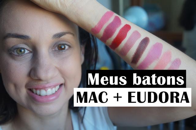 swatches batons MAC e Eudora