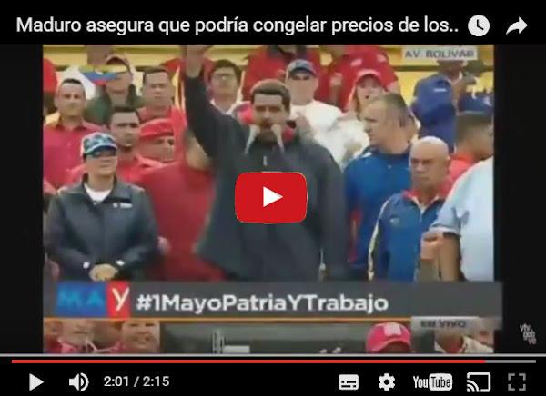 Maduro ordena congelar todos los precios de manera ilegal