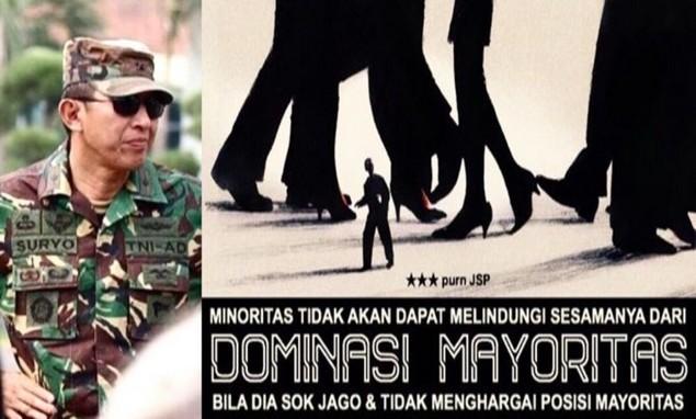 Suryo Prabowo: Minoritas Jangan Sok Jago & Tidak Menghargai Posisi Mayoritas