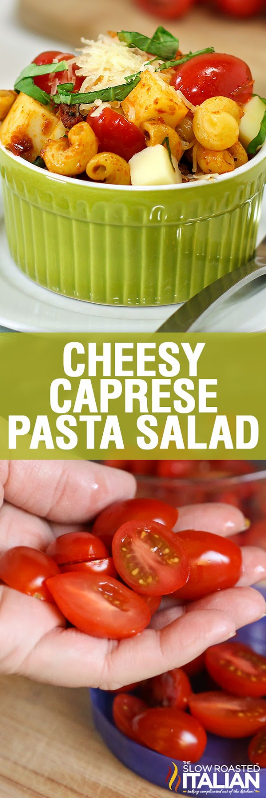 http://www.theslowroasteditalian.com/2013/04/cheesy-caprese-pasta-in-just-20-minutes.html