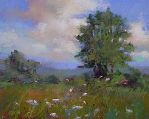 Painting World Simple Pleasures .north Carolina Mountain Landscape