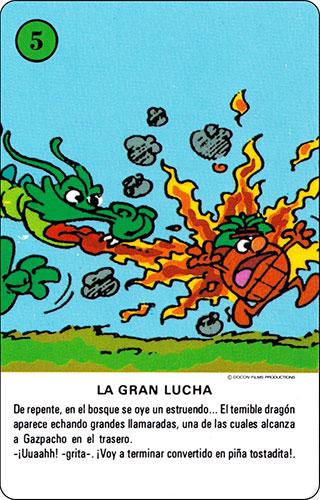 Baraja Los Fruittis Carta verde 5