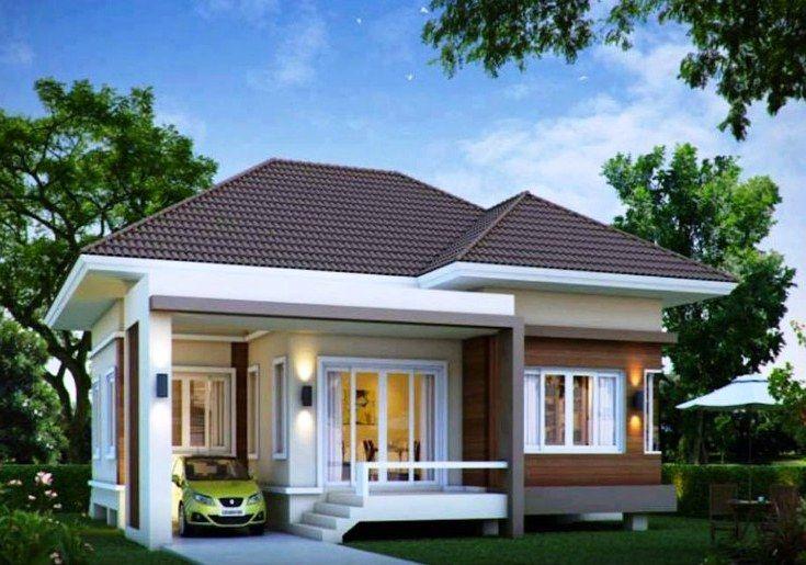 Contoh Desain Rumah 1 Lantai Minimalis Tampak Depan