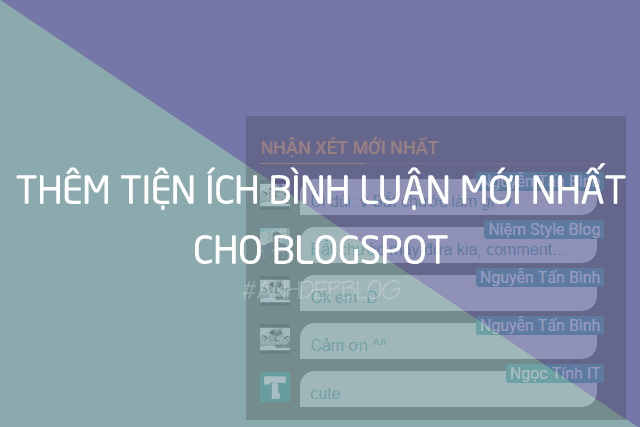 Thủ Thuật Blogspot | Tiện Ích Bình Luận Mới Nhất Cho Blogspot
