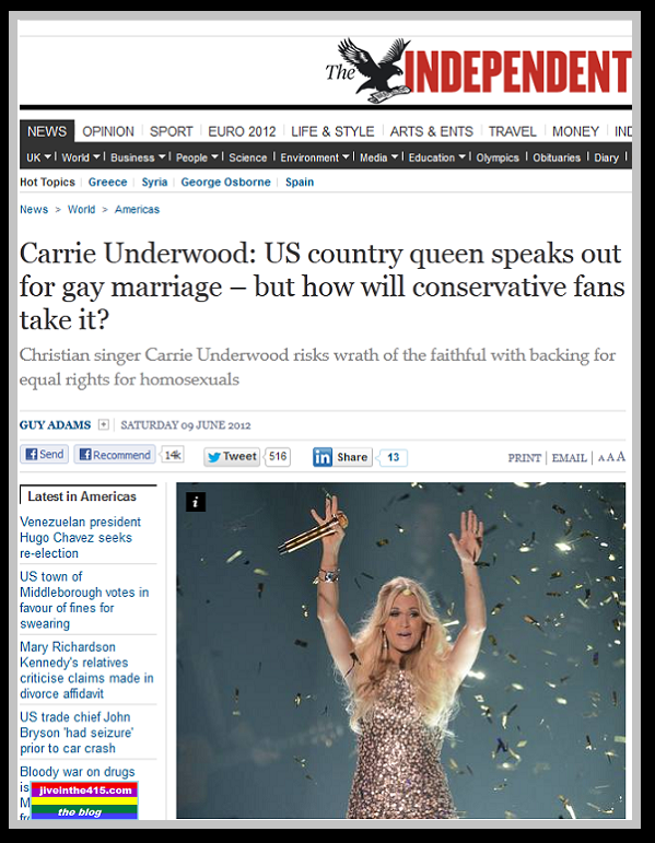 The Independent newspaper interviews Carrie Underwood