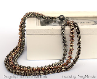 Necklace Johanna beaded by PrettyNett.de
