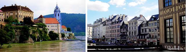 Cidades ligadas à história de Ricardo Coração de Leão: Dürnstein (Áustria) e Rouen (França)