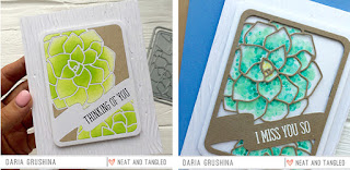 Die cut inlay & overlay (ink-blending & stamping)  - Daria Grushina