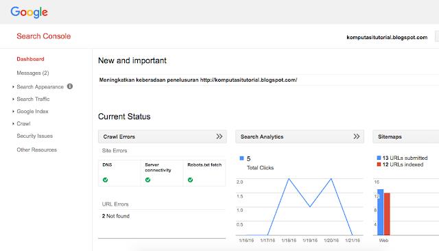 Cara Melakukan Fetch As Google Di Webmaster Tools
