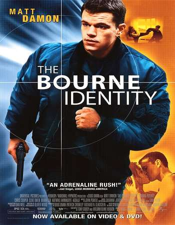 Poster Of The Bourne Identity 2002 Hindi Dual Audio 200MB BRRip HEVC Mobile ESubs Free Download Watch Online downloadhub.net
