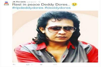 Deddy Dores Tutup Usia Di Usia 65 Tahun, Karena Serangan Jantung