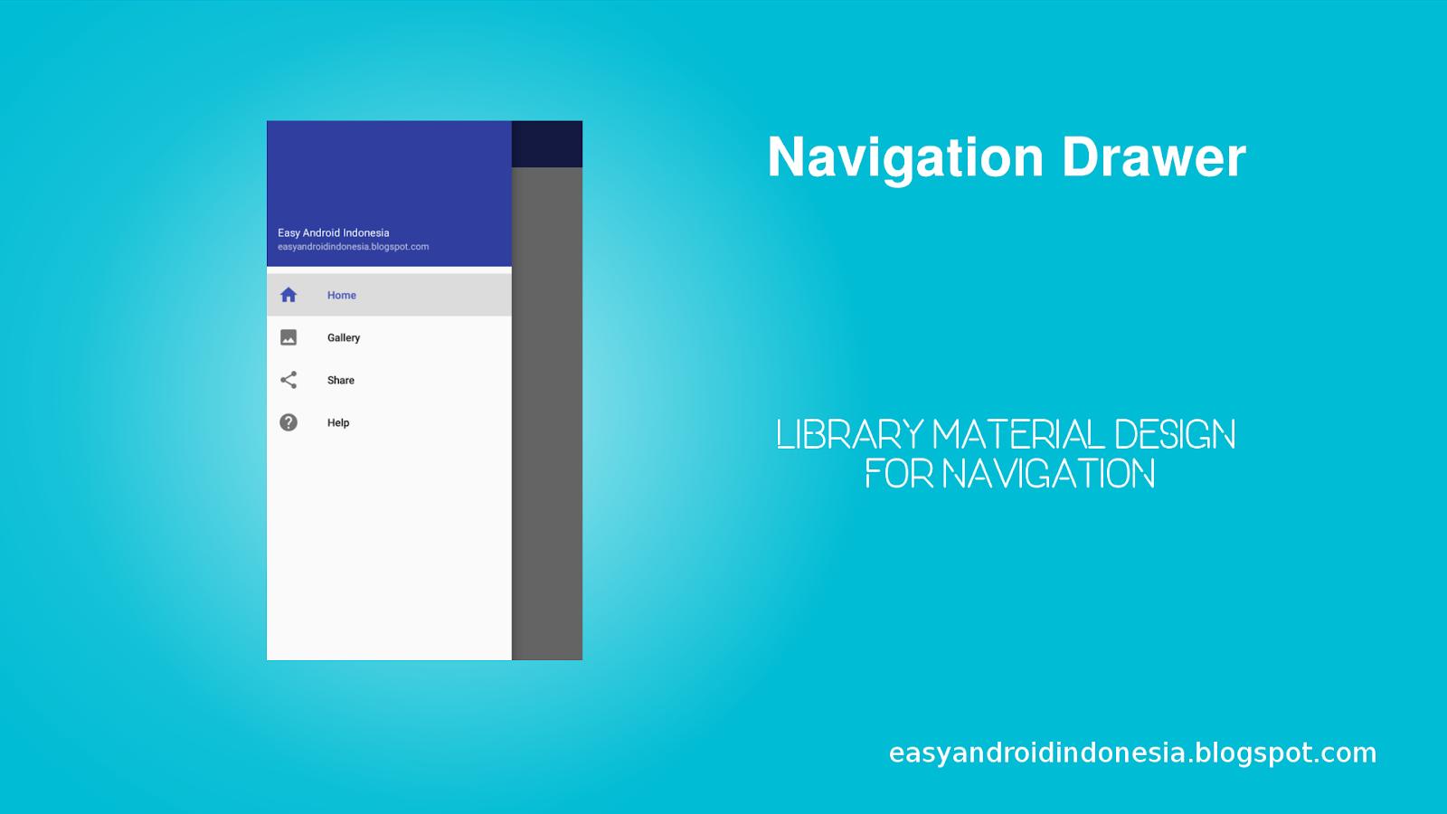Tutorial Membuat Navigation Drawer Sebagai Navigasi