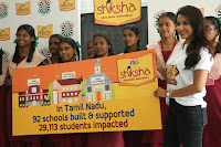 Actress Priya Anand in T Shirt with Students of Shiksha Movement Events 27.jpg