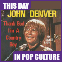 """""""Thank God I'm a Country Boy"""" became #1 song on June 7, 1975."""