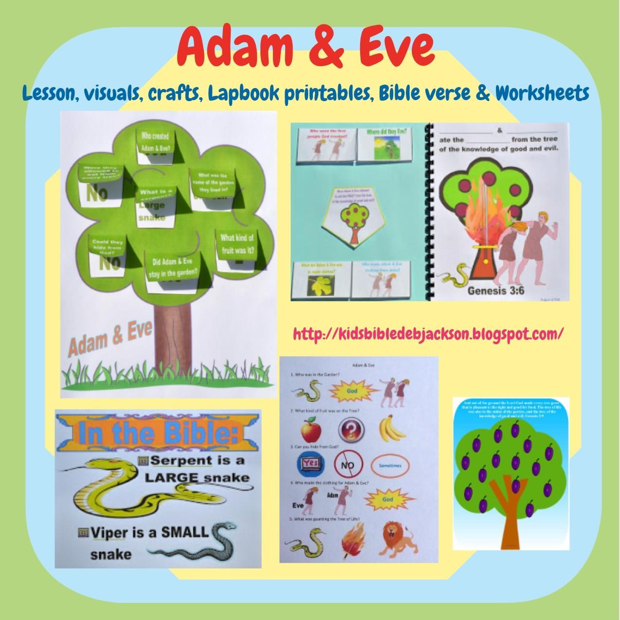 Bible Fun For Kids 1 2 Genesis Adam Amp Eve