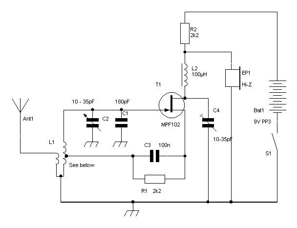 Simple Regenerative    Receiver       Circuit       Diagram    80m or 40m